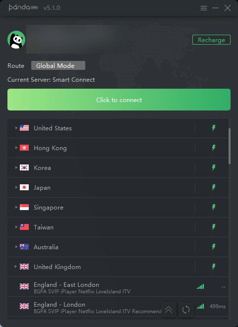 PandaVPN中國翻牆可用節點